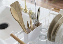 Load image into Gallery viewer, YAMAZAKI | Dish Drainer Rack | White - LONDØNWORKS