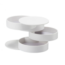 Load image into Gallery viewer, YAMAZAKI | Tower 4 Tiered Jewellery Accessory Tray | White - LONDØNWORKS