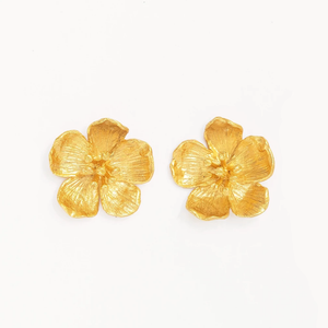 OTTOMAN HANDS | Buttercup Flower Stud Earrings Gold - LONDØNWORKS