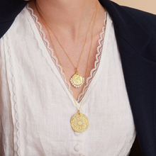 Load image into Gallery viewer, OTTOMAN HANDS | Artemisia Gold Plated Coin Pendant - LONDØNWORKS