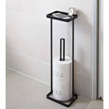 Load image into Gallery viewer, YAMAZAKI | Tower Toilet Paper Stand With Tray | Black - LONDØNWORKS