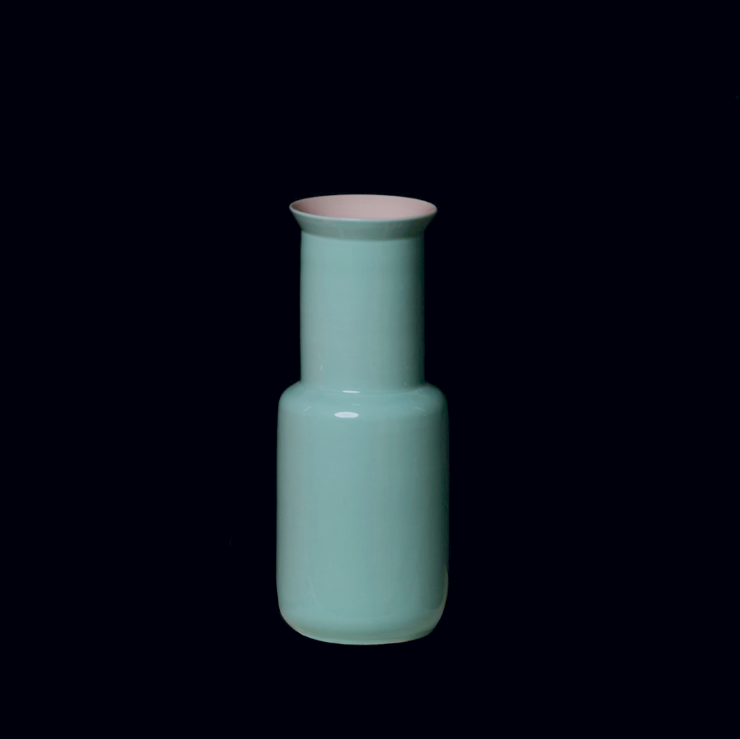 MIDDLE KINGDOM | Porcelain Bamboo Shaped Vase | Celadon - LONDØNWORKS