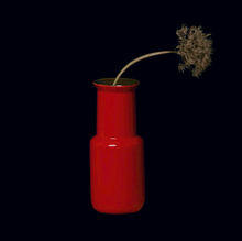 Load image into Gallery viewer, MIDDLE KINGDOM | Porcelain Bamboo Shaped Vase | Red - LONDØNWORKS