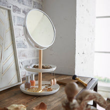 Load image into Gallery viewer, YAMAZAKI | Jewellery Organiser Tray With Mirror | White - LONDØNWORKS