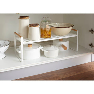 YAMAZAKI | Tosca Shelving Unit- Kitchen Storage Rack - LONDØNWORKS
