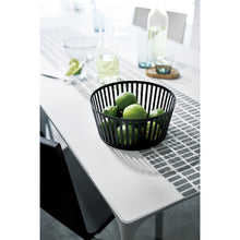Load image into Gallery viewer, YAMAZAKI | Tower Striped Fruit Basket | Black - LONDØNWORKS