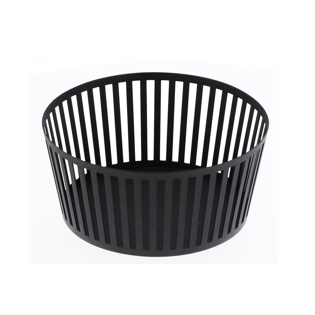 YAMAZAKI | Tower Striped Fruit Basket | Black - LONDØNWORKS