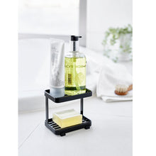 Load image into Gallery viewer, YAMAZAKI | Tower Soap Tray 2 Tiers | Black - LONDØNWORKS