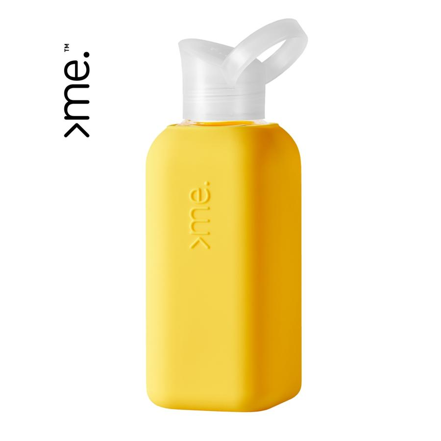 SQUIREME | Glass & Silicon Bottle | Yellow