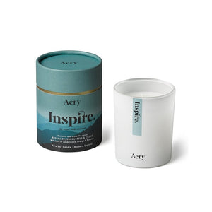 AERY | Inspire Scented Candle | Rosemary Eucalyptus Cedar - LONDØNWORKS