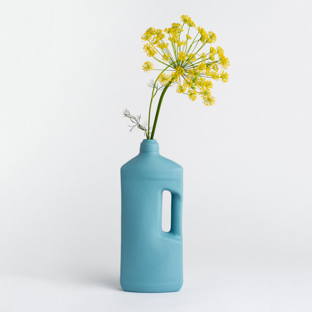 MIDDLE KINGDOM | Motor Oil Bottle Vase Ceramic | Ocean - LONDØNWORKS