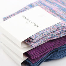 Load image into Gallery viewer, DEMOCRATIQUE SOCKS | Relax Chunky Flat Knit Supermelange | Pink Fleur - LONDØNWORKS