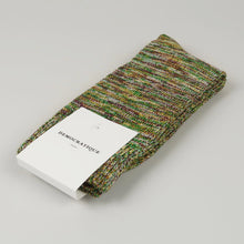 Load image into Gallery viewer, DEMOCRATIQUE SOCKS | Relax Chunky Flat Knit Supermelange | Grass Green - LONDØNWORKS
