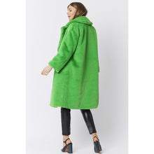 Load image into Gallery viewer, JAYLEY | Faux Fur Coat (with extra belt) | Neon Green - LONDØNWORKS