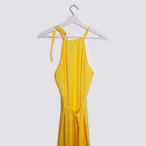 JUJU S'AMUSE | Long Maxi Dress | Yellow - LONDØNWORKS