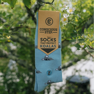 CONSCIOUS STEP | Socks That Protect Koalas | Blue - LONDØNWORKS