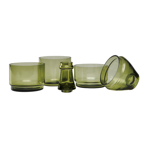 DOIY | L'Apero Bottle Stackable Bowls | Antique Green - LONDØNWORKS