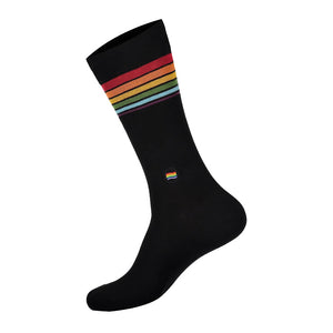 CONSCIOUS STEP | Socks That Save LGBTQ Lives | Rainbow/Black - LONDØNWORKS