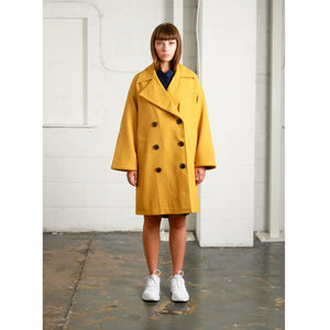 NATIVE YOUTH | Creator Overcoat | Mustard Yellow - LONDØNWORKS