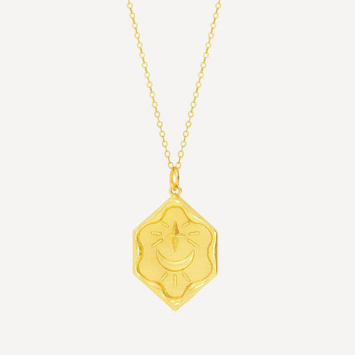 OTTOMAN HANDS | Over The Moon Gold Plated Necklace - LONDØNWORKS