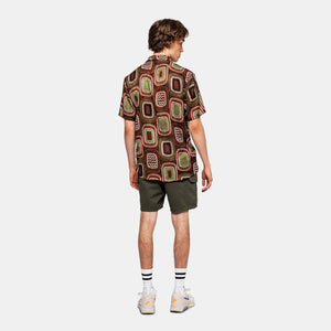 RVLT REVOLUTION | SHIRT WITH ALL-OVER 3753 | Brown - LONDØNWORKS