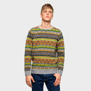 RVLT REVOLUTION | Knitted Sweater 6492 | Multi - LONDØNWORKS