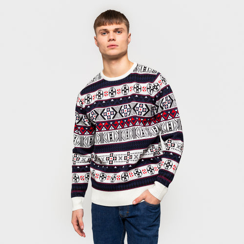 RVLT REVOLUTION | Knitted Sweater 6511 | Off White - LONDØNWORKS