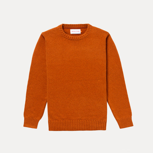 REVOLUTION | 7530 Knitwear Crewneck | Orange - LONDØNWORKS