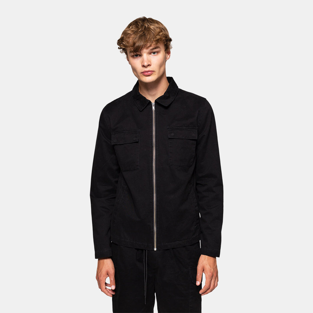 RVLT REVOLUTION | Shirt Jacket 7663 | Black - LONDØNWORKS