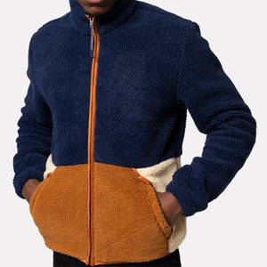 REVOLUTION | 7709 Blocked Fleece Jacket | Multi - LONDØNWORKS