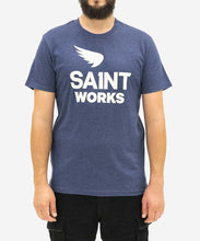 Load image into Gallery viewer, SAINT | Sa1nt Works Logo T-shirt | Navy - LONDØNWORKS