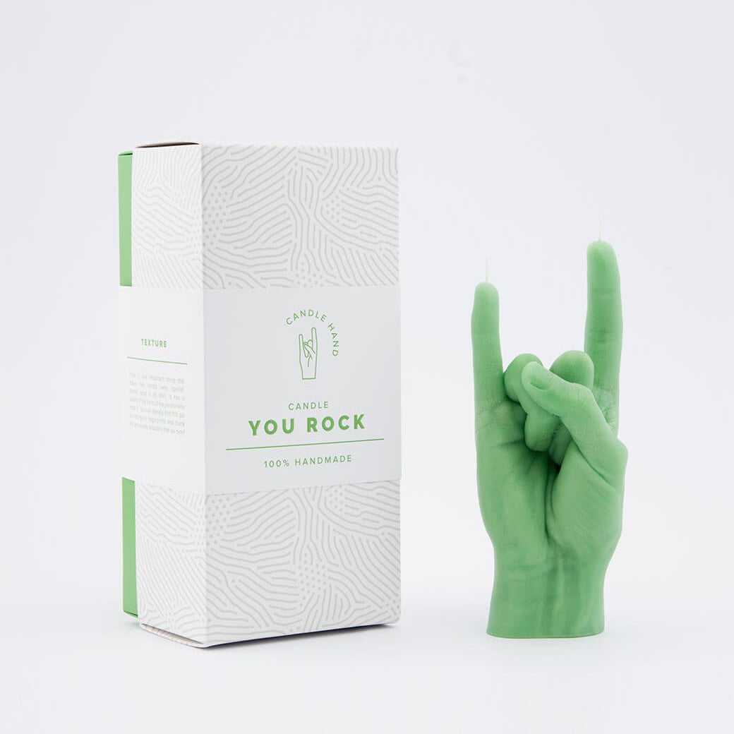 CANDLE HAND | You Rock | Green - LONDØNWORKS