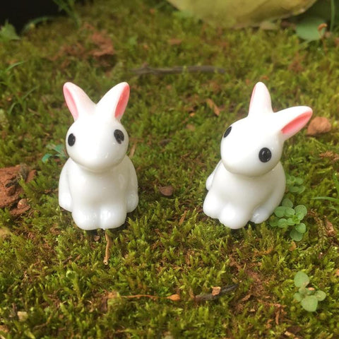 Mini Rabbit Garden Ornament Miniature Figurine