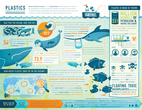 Plastic infographic by One World Ocean
