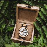 Ash Botanica Wooden Watch - Woodlink & Steel Strap