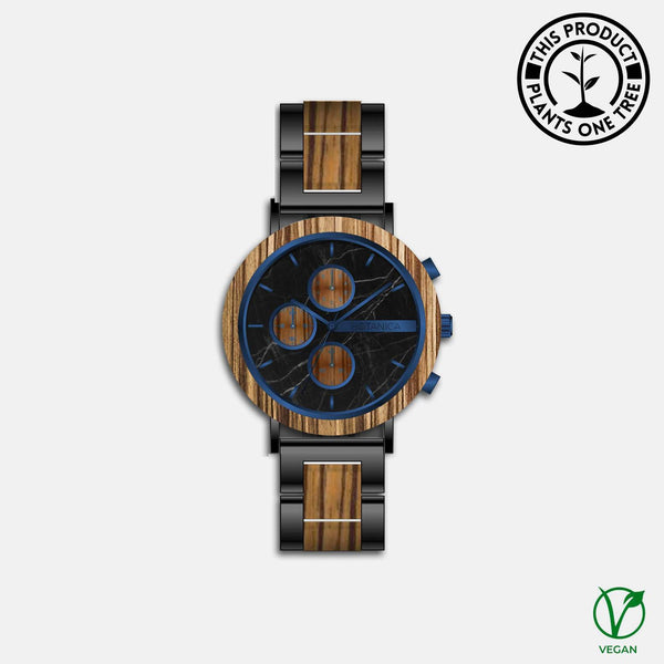 Dahlia Botanica Wooden Watch - Woodlink & Steel Strap