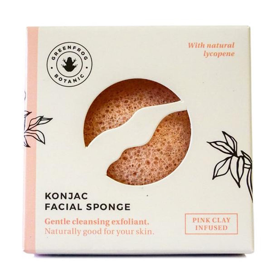 Natural Konjac Sponge - Pink Clay