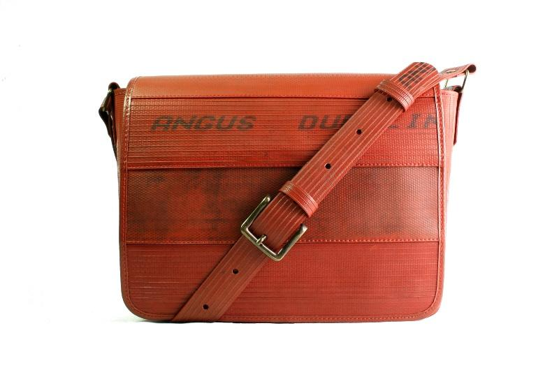 Recycled London Fire-Hose Messenger Bag