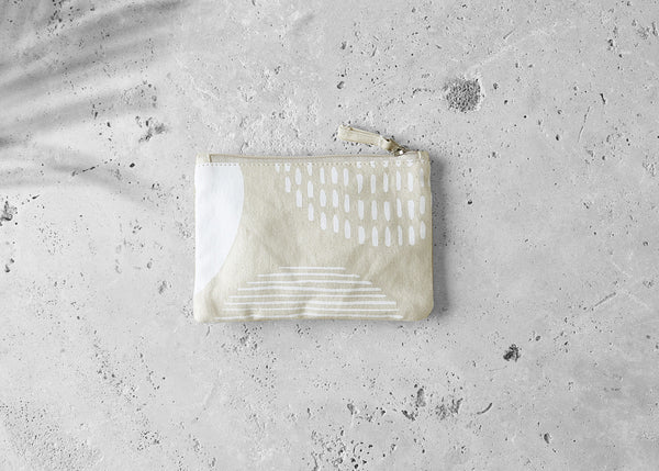 Organic Cotton Zip Purse