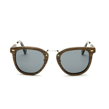 Grizzly Bear Wooden Cat-Eye Shape Sunglasses
