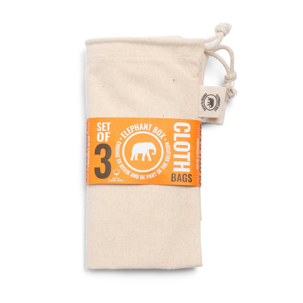 Cotton Fine Weave Produce Bags - Set of 3