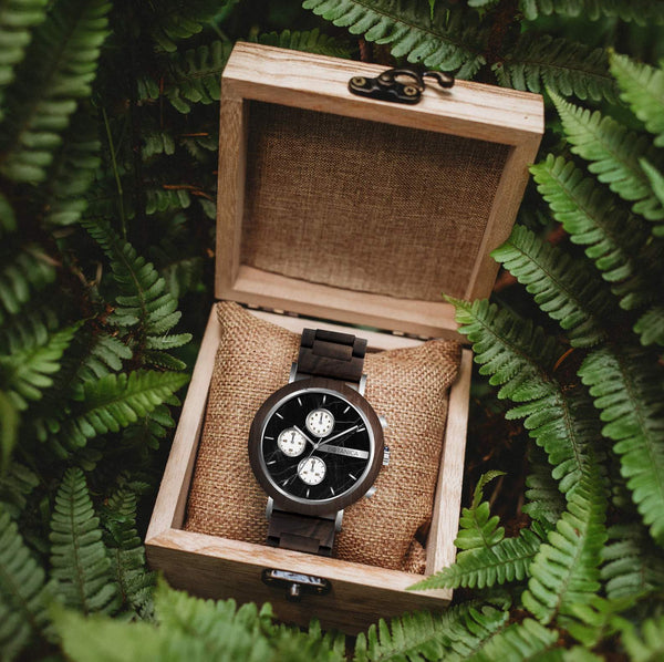 Coleus Botanica Wooden Watch - Woodlink & Metal Strap