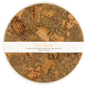Cork Trivet - Ice Grey
