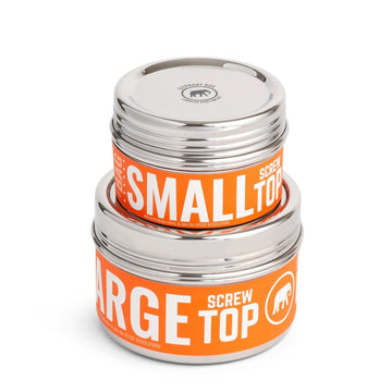 Screw Top Canister Food Containers