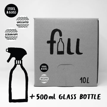 Refillable Steel & Glass Cleaner | Geranium