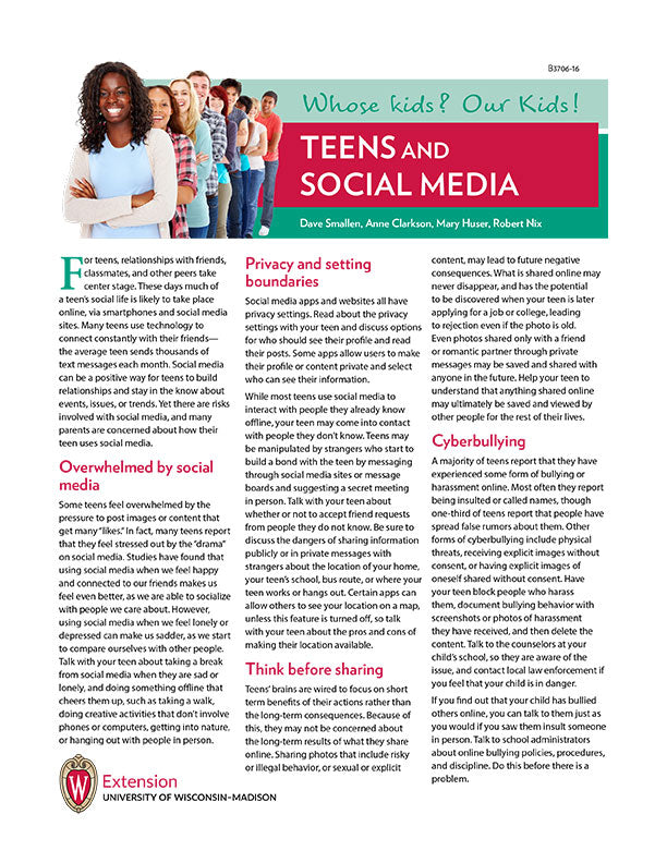 Whose Kids? Our Kids! Teens and Social Media
