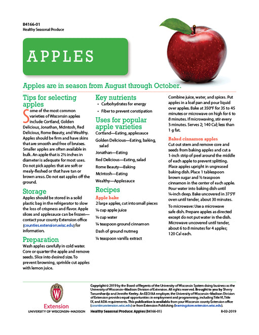 Healthy Seasonal Produce: Apples