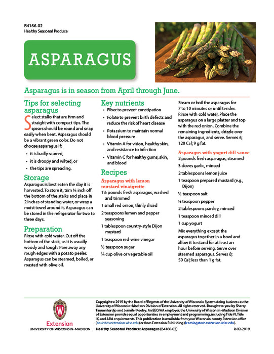 Healthy Seasonal Produce: Asparagus