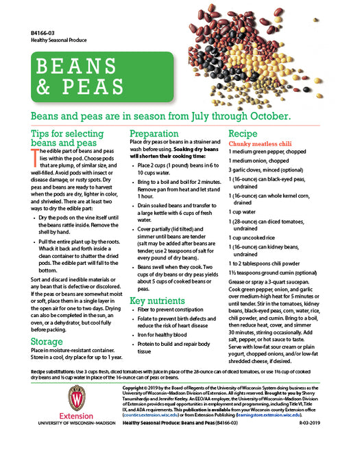 Healthy Seasonal Produce: Beans and Peas