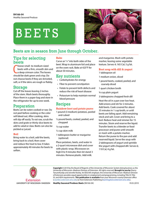Healthy Seasonal Produce: Beets